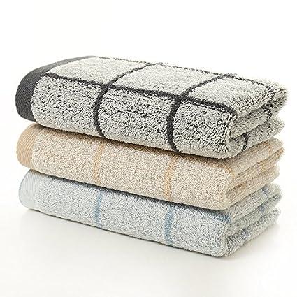 mmynl Pure toallas de algodón de rejilla lavado toallas de la cara de adultos parejas hombres