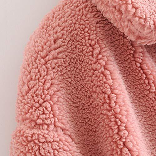 Tasche Giubbino Spesso Giacca Morwind Lungo Elegante Invernale Donna Solide Caldo Cappotto Cardigan Pink Lunghi Giubbotto Inverno Piumino wwqUTxARg