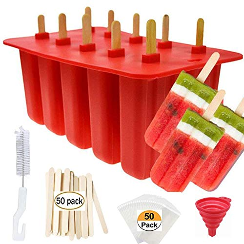 Popsicle Molds Shape Maker,10pcs Homemade ICE Pop