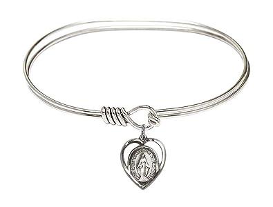 Miraculous Charm On A 7 Inch Oval Eye Hook Bangle Bracelet