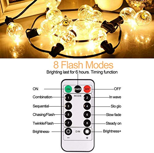 Garden and Outdoor Patio Lights Outdoor String Lights Waterproof – IELECMG 32 Bulbs(2 Spare) G40 LED Globe String Lights Dimmable… outdoor lighting