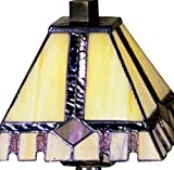 Dale Tiffany TA100351 Tiffany/Mica One Light Accent Table Lamp from Miniature Collection Dark Finish, 6.00 inches, Antique Bronze