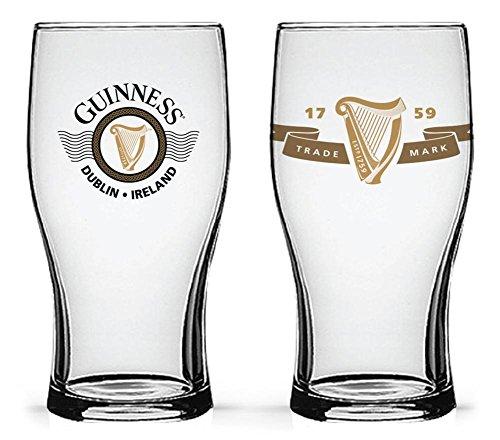 (Guinness - Boxed Tulip Glasses Harp Logos - Set of 2 Novelty 4 x)