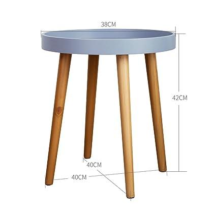 Tavolino Basso Rotondo Legno.Tavolo Rotondo In Legno Massello Tavolino Divano Tavolino