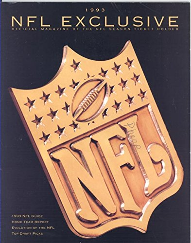 NFL Exclusive Magazine 1993 (Official Magazine of the for sale  Delivered anywhere in USA