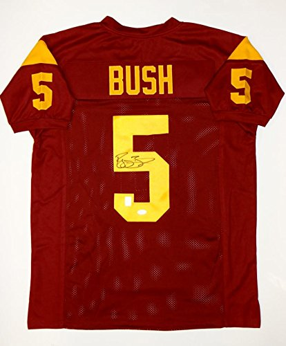 (Reggie Bush Autographed Maroon College Style Jersey- JSA Authenticated)