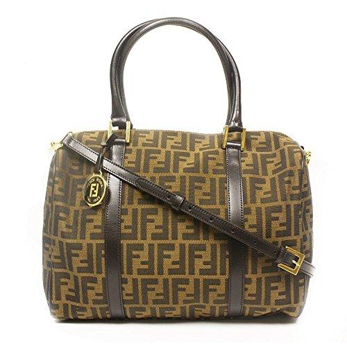 Fendi Handbag Brown Zucca Large Designer Duffle Bag (Shoulder) with Strap - Duffel Fendi