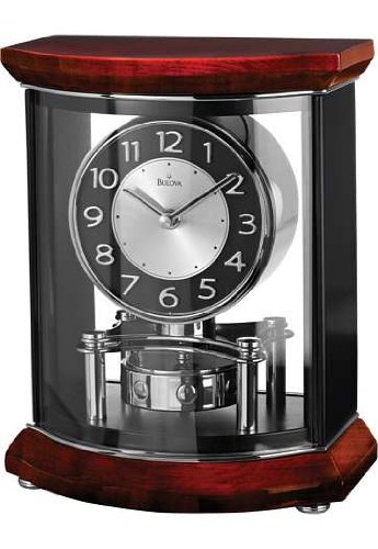 Gentry High Gloss Clock, Piano Finish - Bulova B1718