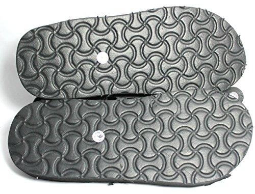 Sandals for Men Velcro Strap (7, Black)