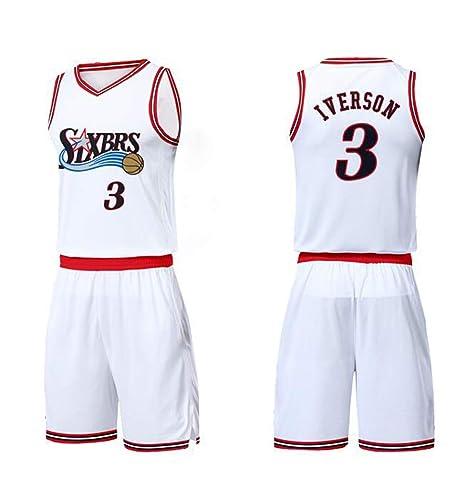 ZXY-FZLF Camiseta de Baloncesto 76 Personas versión Retro ...