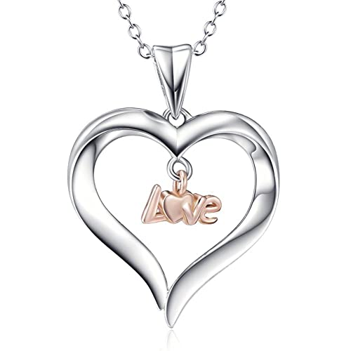 925 Sterling Silver You Are The Only One In My Heart Love Charm Pendant Necklace