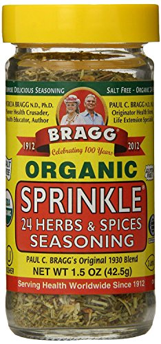 Bragg Organic Seasoning, Sprinkle (24 Herbs & Spices), 1.5 Ounce (Pack of 12)