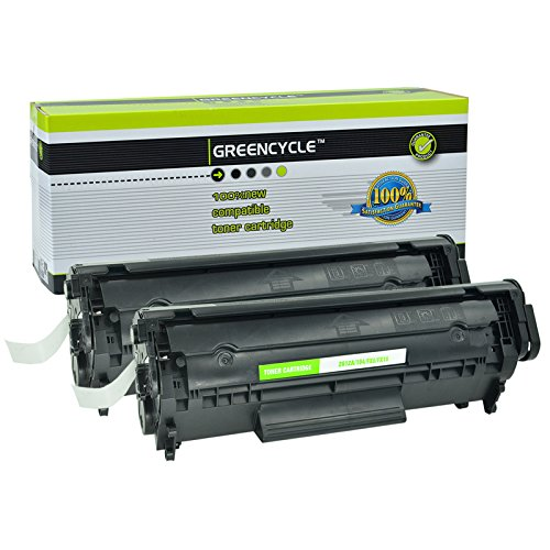 GREENCYCLE 2 PK Toner Cartridge Replacement for HP 12A Q2612A (Black) LaserJet 1010 1012 1018 1020 Printer