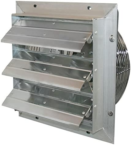 J D Manufacturing J and D VES20C 20 in. Shutter Exhaust Fan with Cord 1-3 Hp