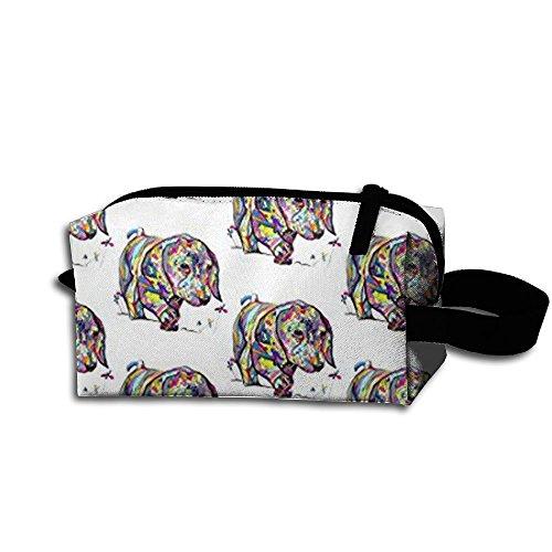 KHDAA Durable Large Rainbow Dapple Dachshund Travel Wash Bag Cosmetic Organizer Toiletry Bag For Women Ourtour -