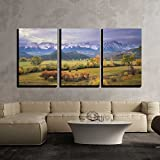 wall26 - 3 Piece Canvas Wall Art - on a Rare Overcast Morning in Southwest Colorado on a Rancher - Modern Home Decor Stretched and Framed Ready to Hang - 24''x36''x3 Panels