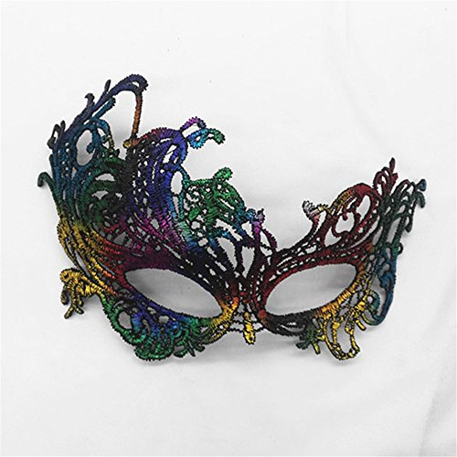 Mardi Gras Party Masquerade Mask,Bronzing lace mask Lady Makeup Dance Eye Patch Halloween Party mask UL4 Prom Masks -