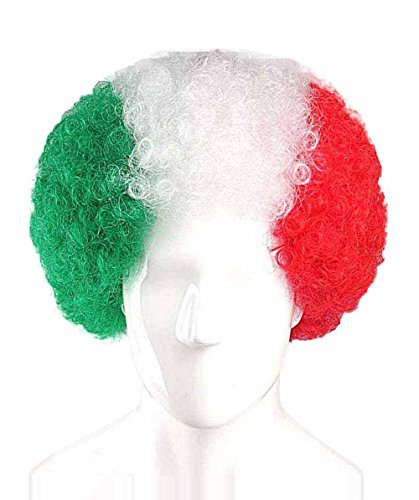 Mexico National Team Country Flag Afro Cosplay Party Costume Wig - Mexico Men National Costume