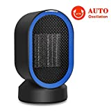 ADDSMILE Space Heater, 2S Fast Heating with Electric Ceramic Heater, Desktop Auto Oscillating Heater with Over-Heat & Tip-Over Protection, Multifunctional Fan with Warm & Natural Wind for Home Office