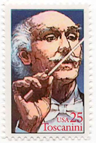 - USA Postage Stamp Single 1989 Arturo Toscanini Issue 25 Cent Scott #2411