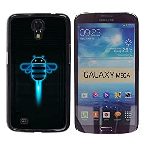 For Samsung Galaxy Mega 6.3 - Funny Androd Bee Robot /Caja protectora de pl???¡¯????stico duro de la cubierta Dise???¡¯???¡Ào Slim Fit/ - Super Marley Sh