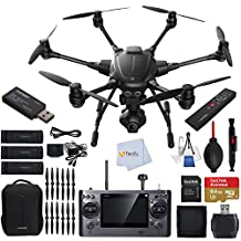 YUNEEC Typhoon H Hexacopter with Intel RealSense Technology Bundle includes CGO3 4K 3-Axis Gimbal Camera + YUNEEC Simulator + YUNEEC Wizard Wand Controller + Extra 5400 mAh Battery + Extra Propeller Sets + Sandisk 64GB Extreme MicroSDHC Memory Card + High Speed Card Reader & More!!!