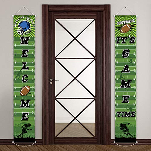 Football Door Decorations - Football Party Banner Welcome Porch Sign