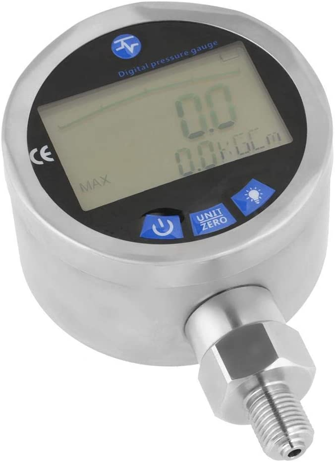 Yadianna Digital Stainless Steel 0-60MPa Hydraulic Pressure Gauge With G1//4 Connector