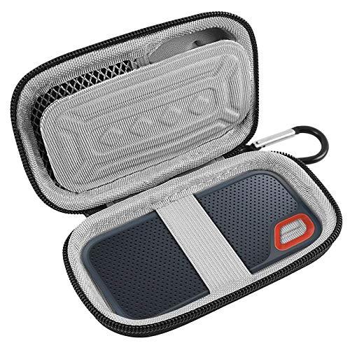 Hard Case Compatible for SanDisk 500GB/250GB/1TB/2TB Extreme Portable SSD - SDSSDE60-500G-G25,Not Fits for Sandisk Pro (Black)-Blue