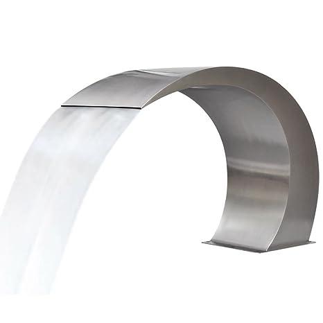 tidyard Fuente de Acero Inoxidable de Acero Inoxidable (SS 304) para Piscinas con 11 Piezas 45 x 30 x 60 cm