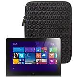 Evecase Lenovo Yoga 2 10 Windows Tablet 10.1 Inch Tablet Sleeve Case, Super Soft Cushion & Shock Resistant Vertical Portable Travel Carrying Case Cover Slim Pouch Bag - Black