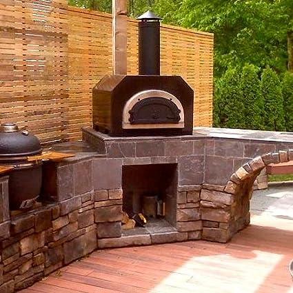 Chicago Brick Oven CBO-500 Countertop Outdoor Wood Fired Pizza Oven - Copper - Amazon.com: Chicago Brick Oven CBO-500 Countertop Outdoor Wood Fired