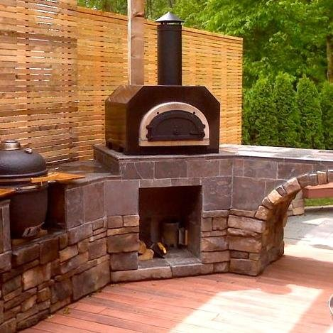 gas pizza oven outdoor uk kitchen build fireplace brick wood fired copper