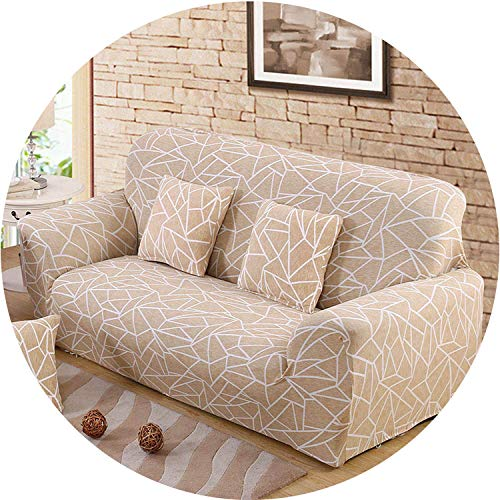 Little Happiness- Elastic Spandex Sofa Cover Tight Wrap All-Inclusive Couch Covers for Living Room Sectional Sofa Cover Love Seat Patio Furniture,Color 20,Cushion Cover 2pcs (Furniture Sectional Costco Patio)