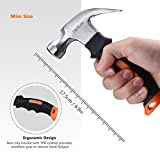 Tacklife HMH2A Mini Claw Hammer Mini Hammer With Magnetic and Anti-slip Head, Ergonomic Soft Rubber Handle For Home Repair, DIY, Building, Woodwork