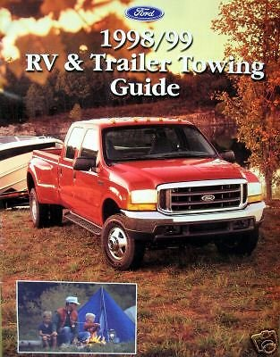 amazon com 1998 1999 ford rv trailer towing guide everything else rh amazon com 1998 ford f150 towing capacity 1998 ford explorer towing capacity