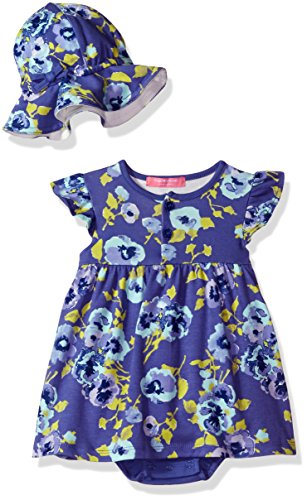 isaac-mizrahi-baby-girls-2-piece-sundress-with-sunhat-blue-floral-pansy-18-months