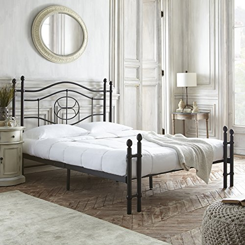 Flex Form Evie Metal Platform Bed Frame / Mattress Foundation with Headboard and Footboard, Queen by Flex Form (Image #1)