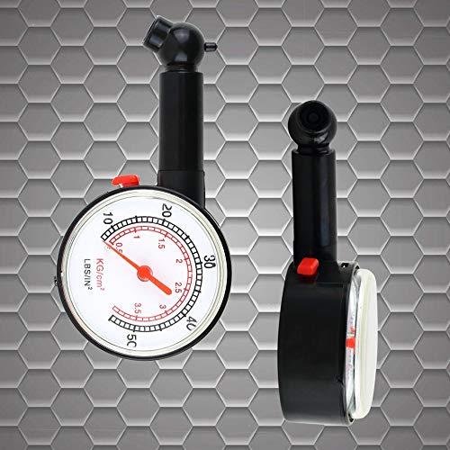 Car Vehicle Motorcycle Bicycle Dial Tire Gauge Meter Pressure Tyre Measure Black