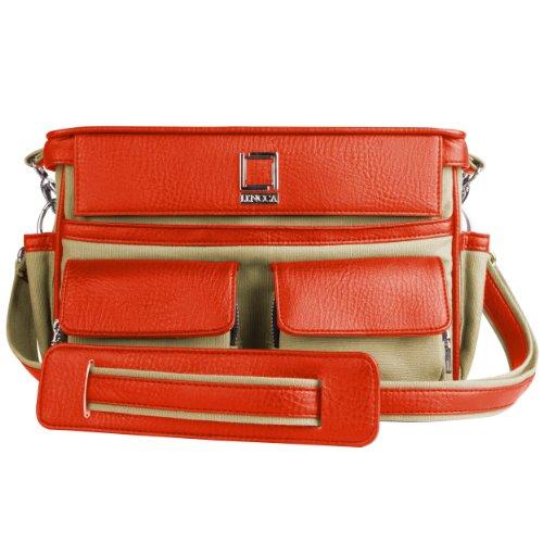 lencca-coreen-raw-beige-orange-camera-bag-for-canon-eos-dslr-rebel-t6-t6s-t6i-80d-5ds-7d-70d-sl1