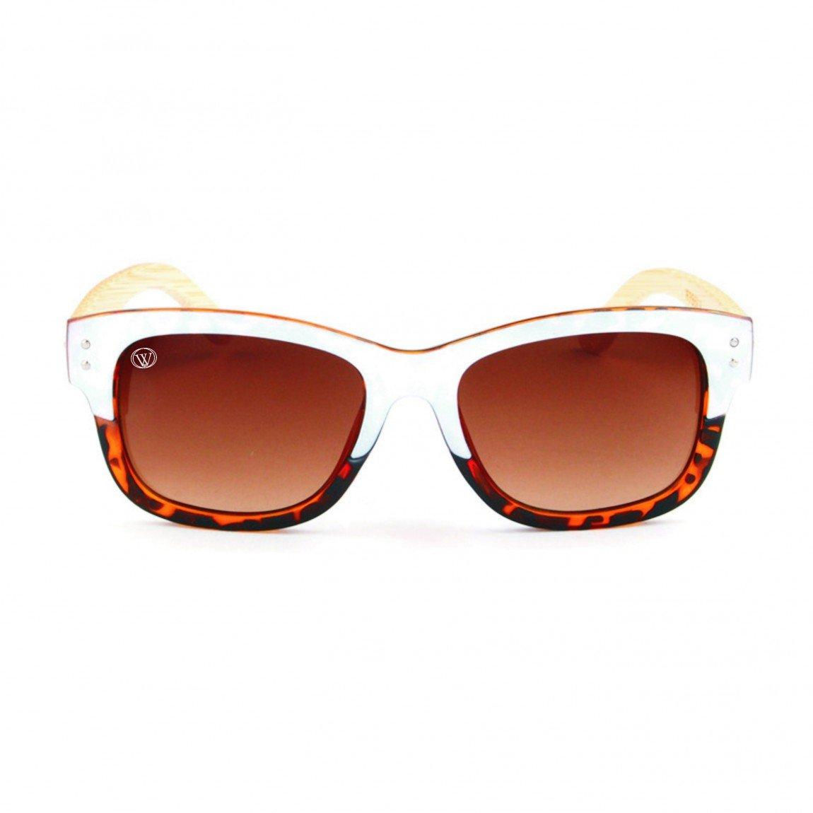 Gafas de Sol de Moda montura carey-blanco y patillas de ...