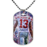 "Odell Beckham Jr Giants Custom Personalized Aluminum Dog Pet Tag,Comes with 30"" inches beads chain"