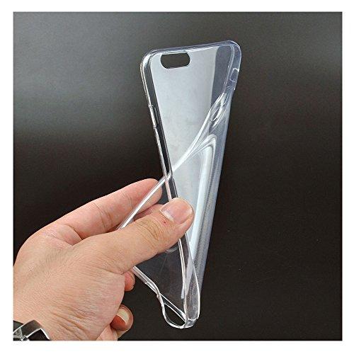Handy Abdeckung - TOOGOO(R)Ultraduenne Kristall Gummi Weiche Abdeckung fuer iPhone 6S Plus