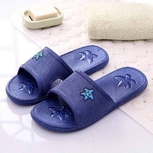 Cómodo Zapatillas femeninas Casa de verano cuarto de baño cuarto de baño antideslizante masaje zapatos Par de piso casero lindo cool zapatillas (7 colores opcionales) (tamaño opcional) Aumentado ( Col F