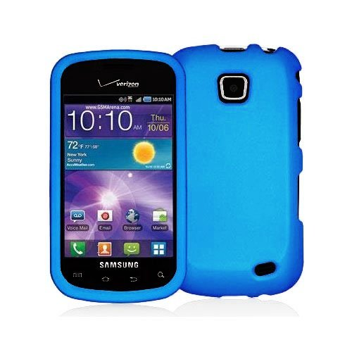 Sky Blue Rubberized Snap-On Hard Skin Case Cover New for Samsung Illusion i110