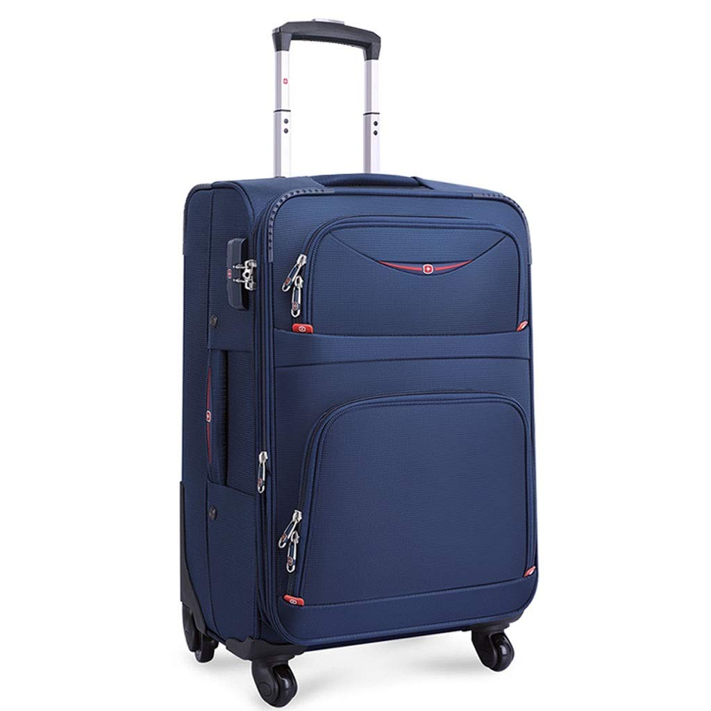 ZXXZ トロリーケース- 人および女性のための普遍的な車輪ビジネストロリー箱、パスワードボックスに乗るオックスフォードの布のスーツケース (Color : Royal blue, Size : 30in) B07TGTRVGQ Royal blue 30in