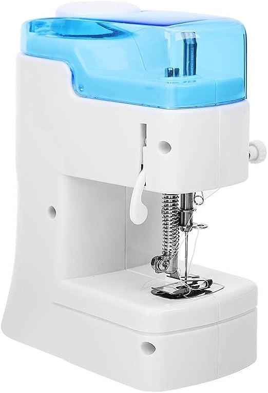 Pokerty Mini máquina de Coser, máquina de Coser portátil Hilos ...