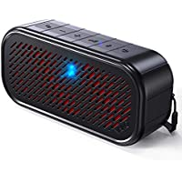 Vako RockSound Tapping & Shaking Portable Bluetooth Speaker with Flashing Lights (Black)