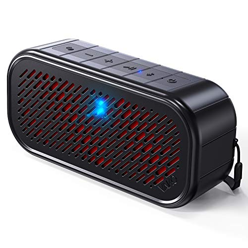 Tapping & Shaking Bluetooth Speakers, VAKO RockSound Portable Wireless Speaker with Flashing Lights, IPX5 Waterproof, Bluetooth 5.0, 100ft Wireless Range, for Travel, Camping, Shower, Party & Outdoors