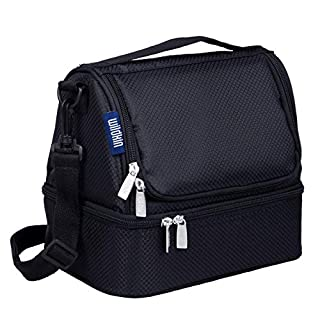 Wildkin Large Insulated Two Compartment Lunch Bag for Men and Women, Perfect Size for Packing Hot or Cold Snacks for Work and Travel, Colors Coordinate with Our Backpacks and Duffel Bags (B00ABB3HR6) | Amazon price tracker / tracking, Amazon price history charts, Amazon price watches, Amazon price drop alerts